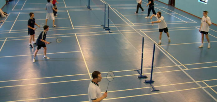 Badminton on 12 courts